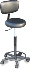 Seating stool with adj. back mod.910