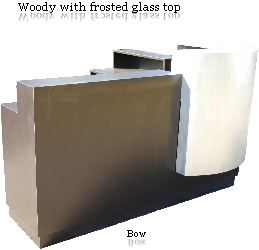 Woody with frosted glass top