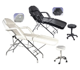 Facial chair combo with stool