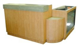 "Reception desk ""Cleopatra"" set with showcase"